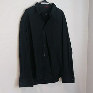 Calvin Klein Black Button Down XL